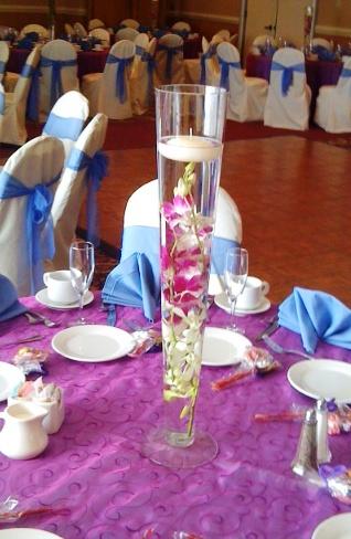 Purple Dendrobium Floating Candle Centerpiece Scentsational Florals