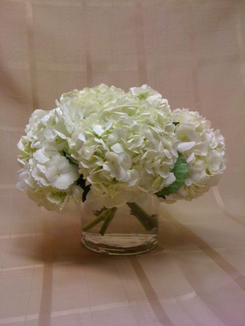 White Hydrangea 5 In Short Cylinder Scentsational Florals