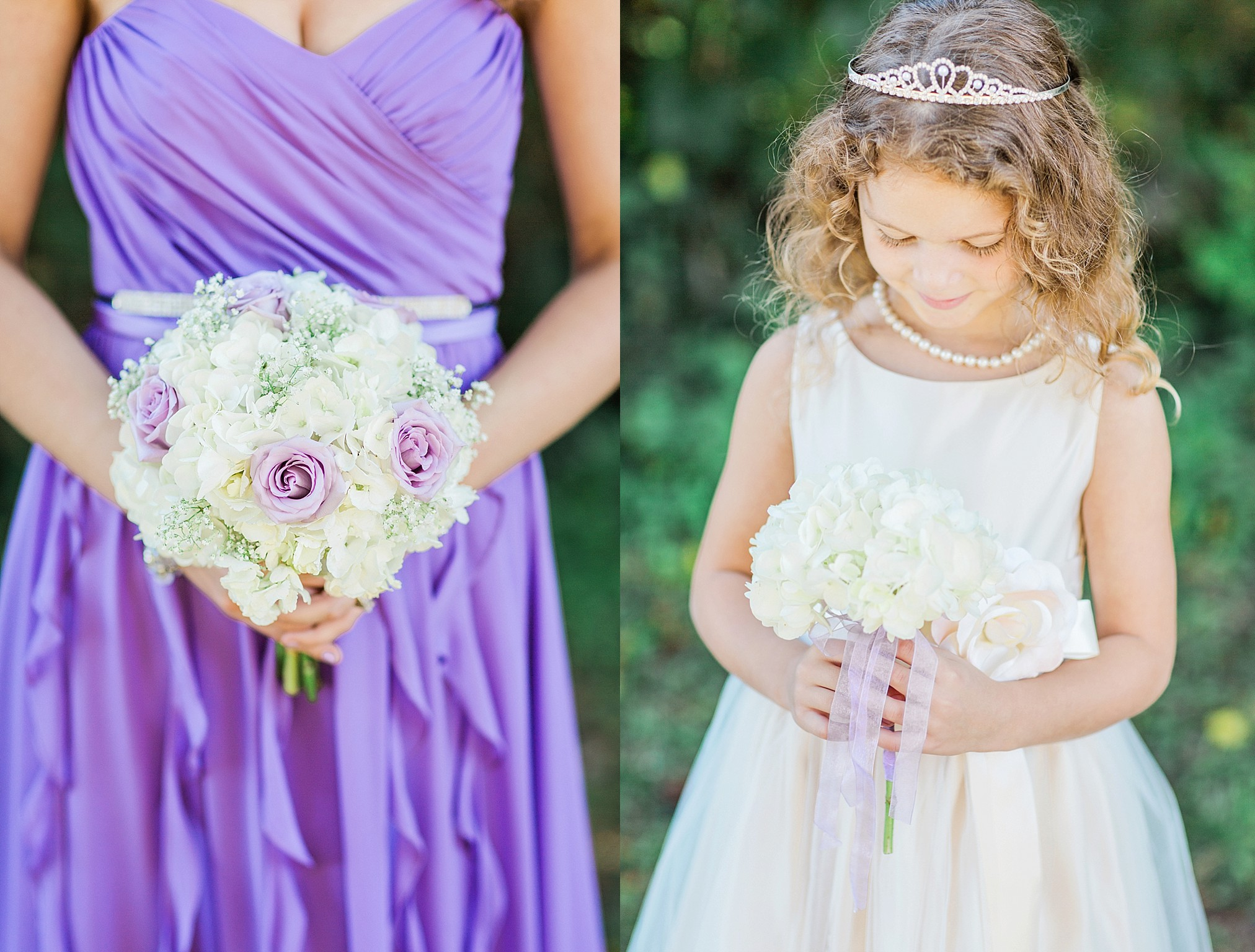 Bridesmaid Hydrangea Lavender Rose Babys Breath Bouquet Scentsational Florals