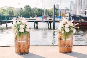 $148 - ceremony flowers (barrels not incl)
