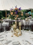 $178 - tall centerpiece in rental gold stand (included) for reception