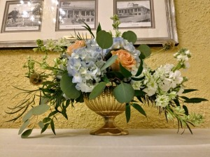 $66 - footed compote low centerpiece for reception